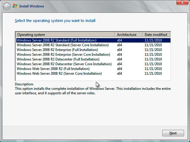 Windows Server 2008 R2 automated install settings - Mischa